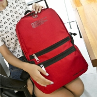 女春季韩版时尚女士双肩女包包休闲学院风书包旅行背包 红色