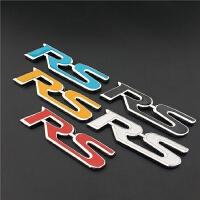 汽车中网RS改装标 中网标金属车标 个性车贴 车尾装饰车标志贴纸
