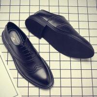 休闲皮鞋男商务正装工作鞋子男新款男士韩版潮流黑色英伦结婚男鞋