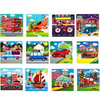 12张 宝宝幼儿童积木质拼图2-3-4-5-6岁早教力男女孩拼插玩具