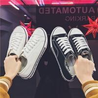 夏季男士运动时尚帆布鞋学生休闲鞋潮流情侣小白鞋子
