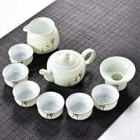 功夫茶具套装陶瓷盖碗茶杯茶壶茶海整套茶具手绘青瓷家用