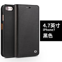 苹果7p手机壳皮套ipone8plus保护套真皮ip7翻盖iphone8外壳7puls