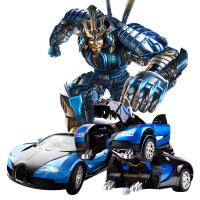 三变布加迪战龙金刚充电动机器人儿童玩具车遥控变形汽车人