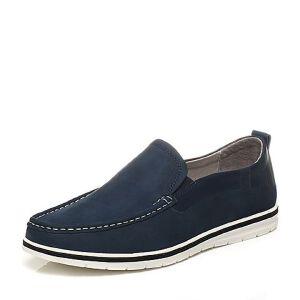 Belle/百丽夏季专柜同款牛皮男休闲鞋乐福鞋4VG02BM7