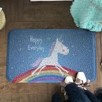可爱地毯丝圈地垫家用脚垫卧室门口进门垫子卫生间浴室防滑垫