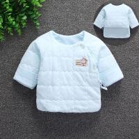 新生儿半背衣和尚服宝宝夹棉保暖1上衣春秋冬初生婴儿0-3个月 均码(建议0~3个月新生儿)