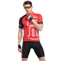 男士短袖骑行服套装 户外运动服饰