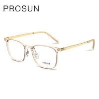 保圣(PROSUN)光学镜男士半框眼镜架商务休闲近视眼镜框PJ5008 B11砂半透深灰