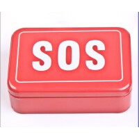 户外野外生存工具刀应急包组合套装装备SOS生存盒 自救求生盒