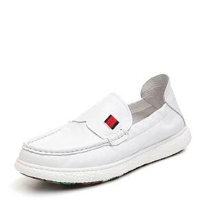 Tata/他她2018夏专柜同款牛皮革简约乐福鞋平底男休闲鞋S2535BM8