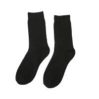 男士冬季袜子毛巾袜中筒纯色加厚短袜保暖运动袜子商务男袜 均码