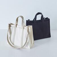原创女包韩版商务公文包chic时尚学生书包文件包潮帆布单肩手提包