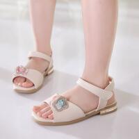 女童凉鞋2018新款韩版 夏季儿童时尚高跟鞋 小女孩露趾公主罗马鞋