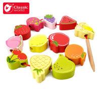 可来赛1-2-3岁早教穿绳手工幼儿diy女孩宝积木制串珠儿童玩具益智