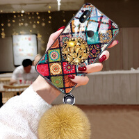 小米mix3手机壳NIX3毛绒球套mlx3玻璃m1x3复古MIUIx3菱格6.39英寸创意mix3个
