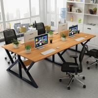 电脑桌简约现代四人位工作桌子屏风卡座简易公司职员办公桌椅组合