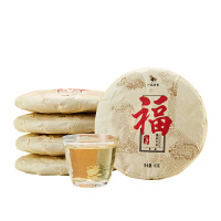 八马茶叶 太姥山福鼎白茶贡眉饼茶三年藏100克*5饼