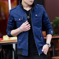 男士外套春秋2018新款韩版潮流帅气牛仔外衣秋装加绒男装夹