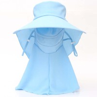 防晒帽子 户外骑行电动车可折叠遮阳帽 女夏天遮脸太阳凉帽