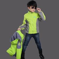 儿童冲锋衣三合一春秋冬季童装加绒加厚可拆卸大童防风衣男童外套