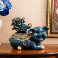 欧式招财大象摆件装饰品电视柜创意软装办公室工艺摆设开业礼品