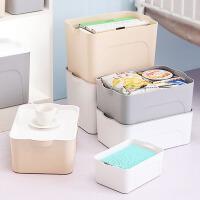 收纳盒 简约现代家用收纳塑料大号加厚家用儿童玩具收纳盒车载后备箱衣物整理箱