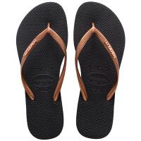 havaianas女款时尚细带人字拖Slim Logometalic平底哈瓦那拖鞋1611