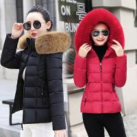 外套韩版冬季女修身加厚短款棉袄时尚大毛领羽绒棉衣冬装2018