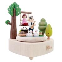 音乐盒八音盒男女生木质520生日61儿童节礼物猫咪钢琴