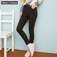 美特斯邦威冬装新款韩版休闲裤打底裤女显瘦弹力修身商场款R