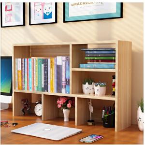 幽咸家居 简约小书架书柜组合桌上置物架学生宿舍办公桌桌面收纳架简易儿童