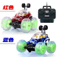 翻滚特技车可充电动翻斗遥控车带音乐越野赛车模型儿童玩具车男孩