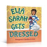 英文原版 Ella Sarah Gets Dressed 2004年萨拉就要这样穿 凯迪克银奖绘本亲子共读绘本读物2-