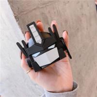 可爱趣味苹果无线蓝牙耳机保护套airpods1/2代硅胶防摔卡通奶嘴潮无线耳机保护套可爱卡通收纳盒子 黑色 变形金刚+