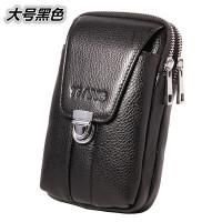 男士牛皮手机腰包穿皮带竖款多功能小包皮带包工具挂包夏季新潮款