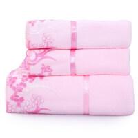 毛巾套装2毛巾+1浴巾三件套情侣洗脸柔软吸水面巾可搭配礼盒
