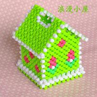 家居饰品摆件方形圆筒卷纸diy手工串珠纸巾盒抽纸盒材料包亚克力