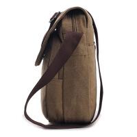 新款简约男士包包时尚休闲包单肩斜跨包男帆布包复古旅游背包商务百搭多功能邮差包