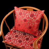 中式抱枕沙发靠垫套靠背套中国风腰枕含芯古典订制 拼回纹