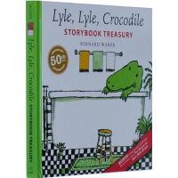 英文原版 汪培�E书单 Lyle, Lyle, Crocodile 鳄鱼莱尔珍藏5个故事集经典 儿童情商管理 生活修习图