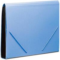 KF412TJ/F4302文件夹多层手提式A4风琴包票据文件包12格手风琴文件 F4302蓝色 12格