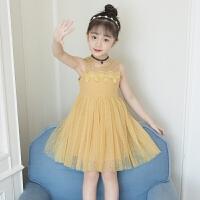 女童连衣裙夏装无袖吊带裙女孩中大小童网纱裙韩版儿童公主裙
