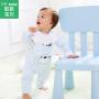 【尾品汇专区:买4免3】歌歌宝贝宝宝背带裤套装1-3岁儿童春装外出服纯棉两件套婴儿衣服