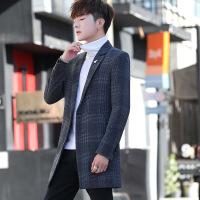 №【2019新款】冬天小个子穿的新款小个子男士风衣小码XS S中长款韩版羊毛呢大衣外套潮
