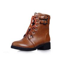 WARORWAR法国 2019新品YGM-9-B65a冬季韩版低跟保暖加厚女鞋潮流时尚潮鞋百搭潮牌女靴子短靴马丁靴女