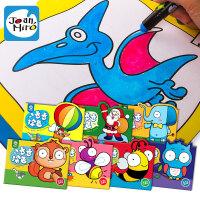 美乐 幼儿涂色本填色本儿童涂鸦画画本描红本宝宝学画本 3+