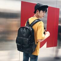 男生双肩包潮流韩版大学生书包时尚休闲男士旅行背包个性电脑包
