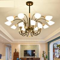 简约美式客厅吊灯家用大气LED套餐创意个性卧室灯现代餐厅灯具n6x