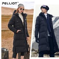 伯希和户外长款羽绒服 男女冬季加厚保暖羽绒外套连帽过膝羽绒衣